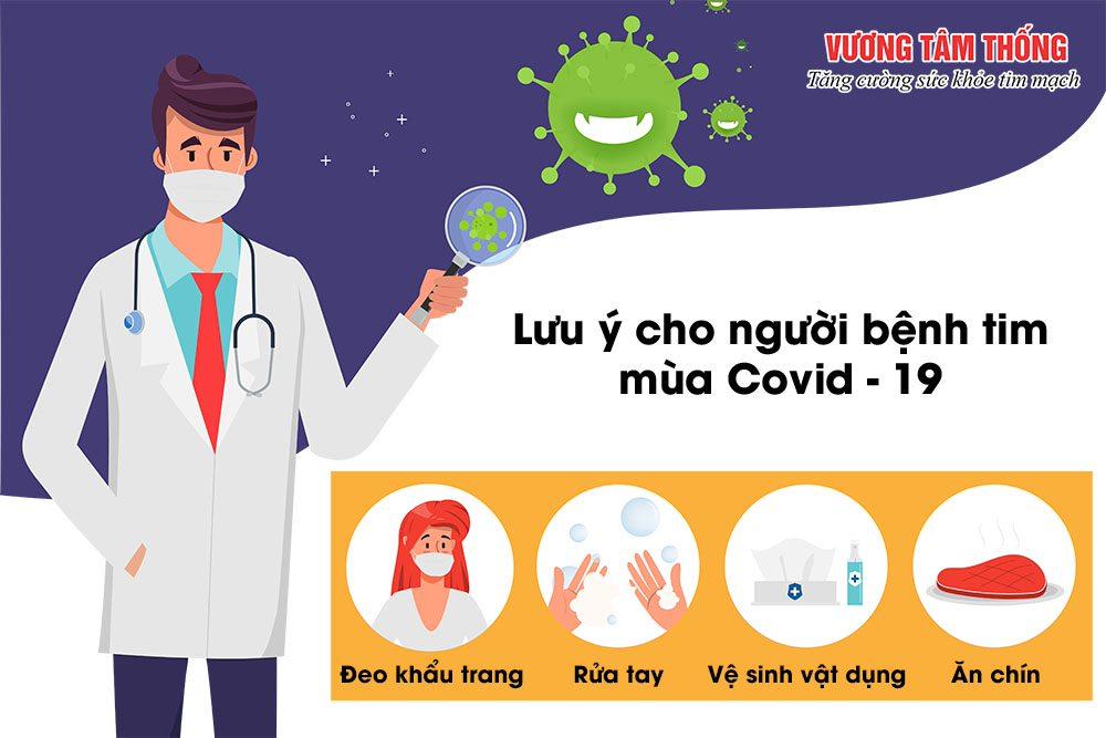Người bệnh tim mạch cần tuân thủ các lưu ý điều trị trong mùa dịch Covid - 19